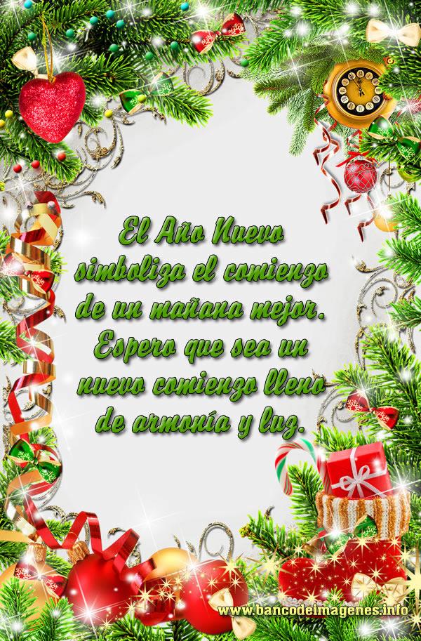 Postales de a o nuevo 2014 con bonitas frases banco de - Postales de navidad bonitas ...