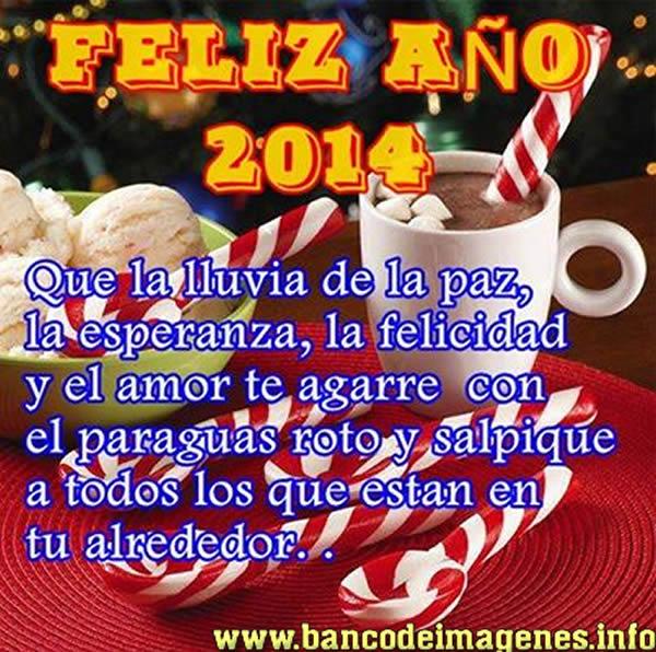 tarjetas de año nuevo lluvia de paz 2014