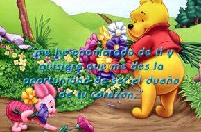 postales de amor Winnie Pooh