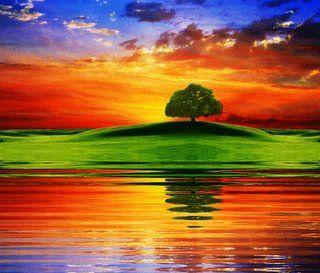 bellos colores de paisajes
