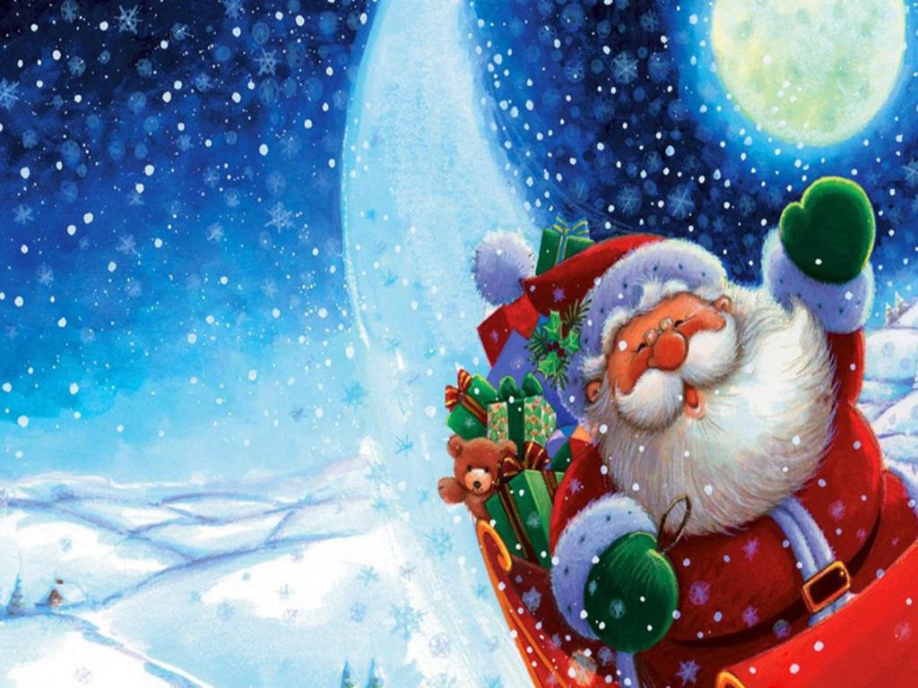 Feliz Navidad Tarjetas Postales con Papá Noel