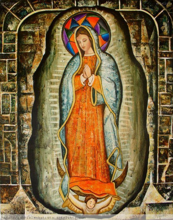 Imágenes en pintura de Señora de Guadalupe