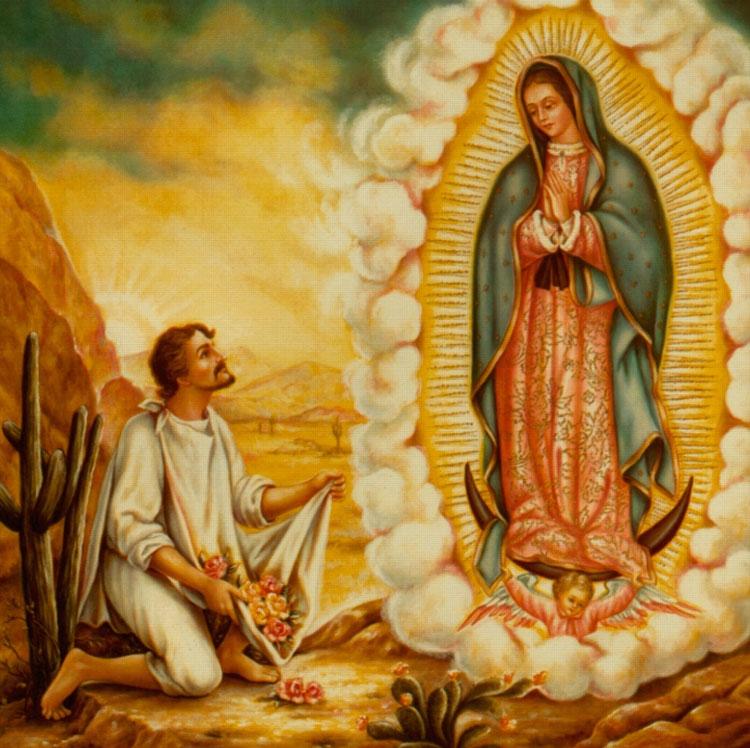 Nuestra Señora de Guadalupe con Jesus