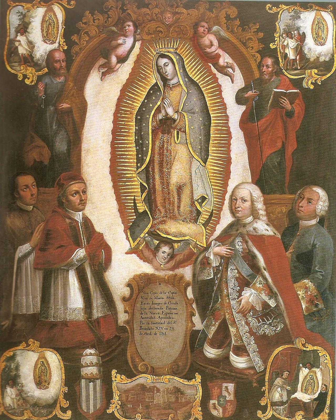 Pintura de Nuestra Señora Virgen de Guadalupe