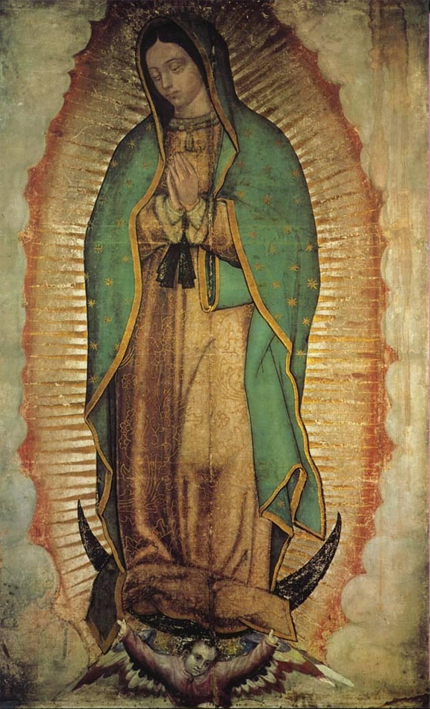 imagen real de Nuestra Señora Virgen de Guadalupe
