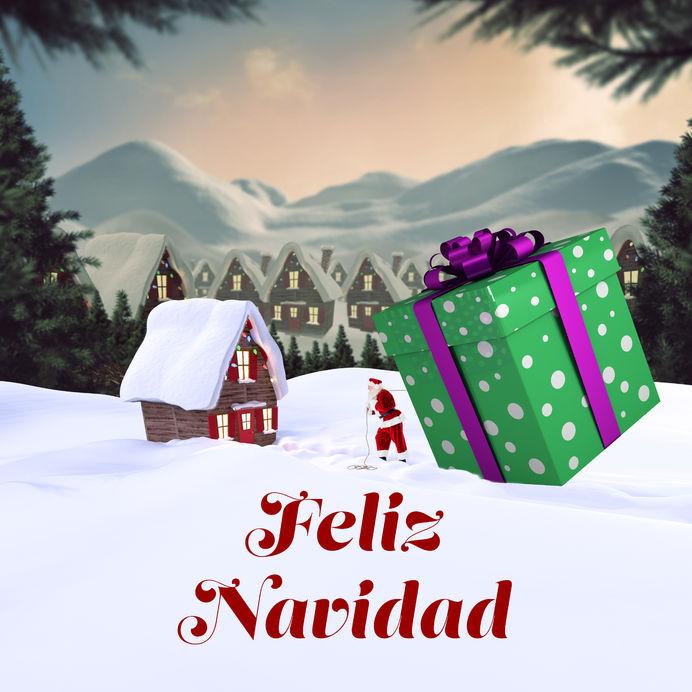 Tarjetas Postales con Mensajes de Feliz Navidad