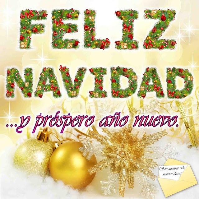 Tarjetas Navideñas de feliz navidad y prospero año nuevo