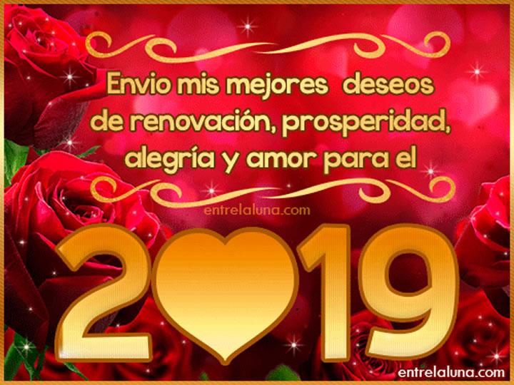 Imágenes de Feliz Año Nuevo 2019 con Animación