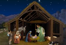 Nacimiento de Jesús en belén – 4 Imágenes de Navidad