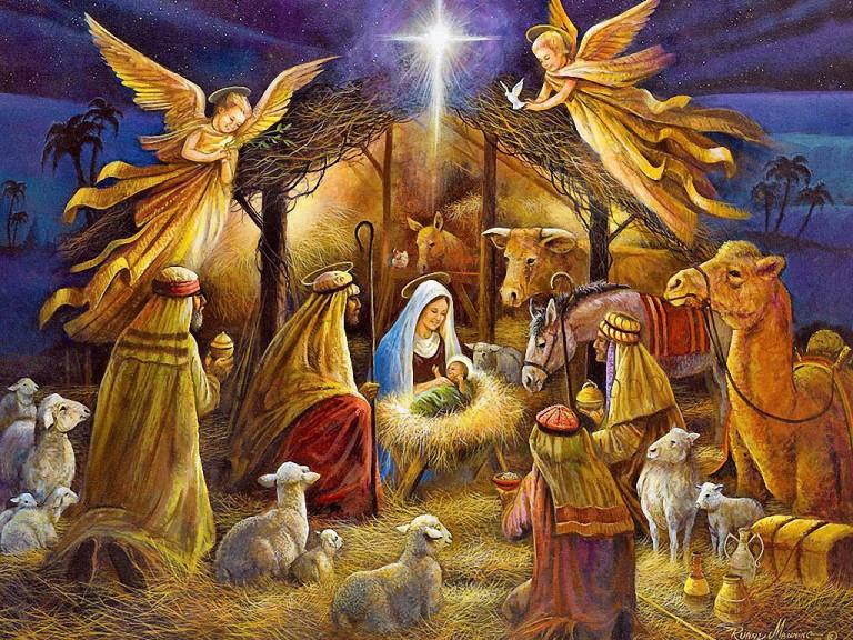 Dibujos De Navidad Del Nacimiento De Jesus.Nacimiento De Jesus En Belen 4 Imagenes De Navidad Banco